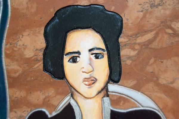 Каменная Картина Автопортрет в зеркале № 06 (Сутин), изображение, фото 13
