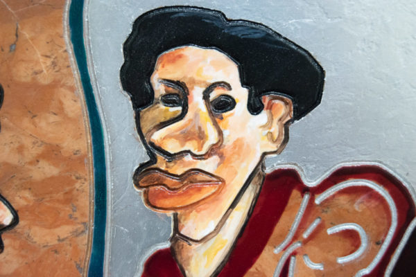Каменная Картина Автопортрет в зеркале № 06 (Сутин), изображение, фото 14
