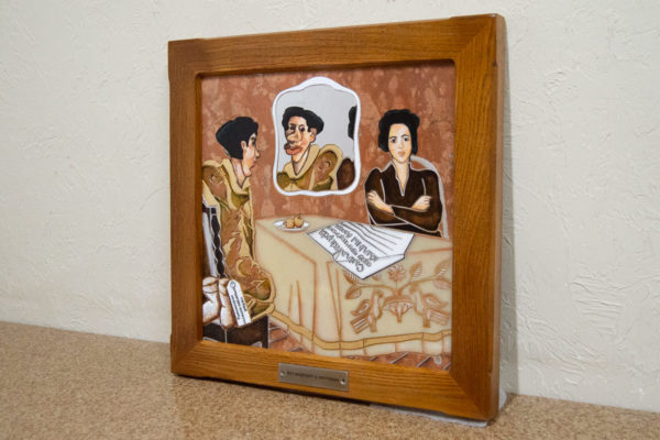 Каменная Картина Автопортрет в зеркале № 07 (Сутин), изображение, фото 1