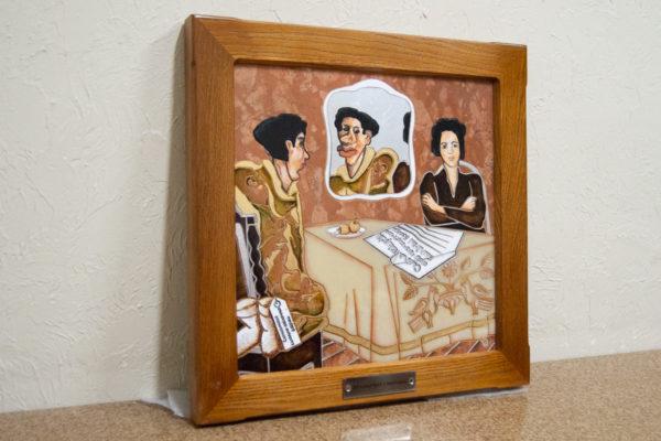 Каменная Картина Автопортрет в зеркале № 07 (Сутин), изображение, фото 2