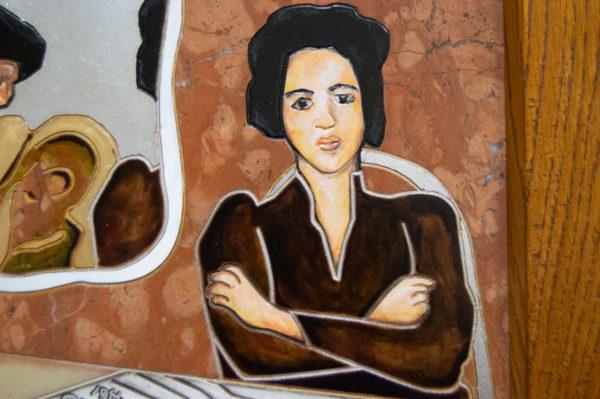 Каменная Картина Автопортрет в зеркале № 07 (Сутин), изображение, фото 12