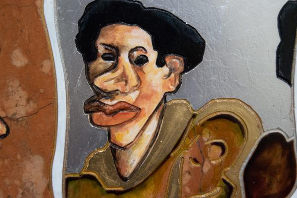 Каменная Картина Автопортрет в зеркале № 07 (Сутин), изображение, фото 13
