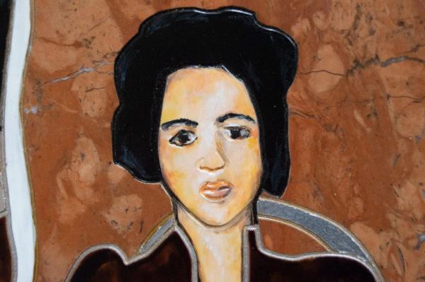 Каменная Картина Автопортрет в зеркале № 07 (Сутин), изображение, фото 15