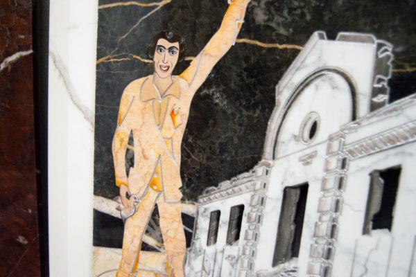 Каменная Картина Оммаж духовному дому отца Шагала № 06, изображение, фото 2