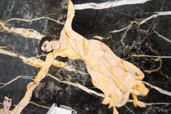 Каменная Картина Оммаж духовному дому отца Шагала № 06, изображение, фото 3