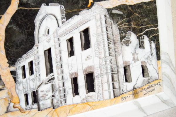Каменная Картина Оммаж духовному дому отца Шагала № 06, изображение, фото 5