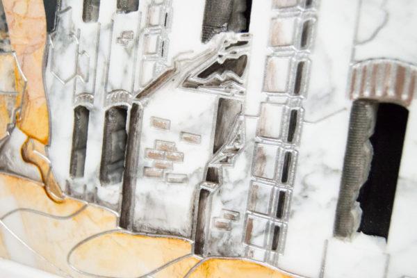 Каменная Картина Оммаж духовному дому отца Шагала № 06, изображение, фото 7