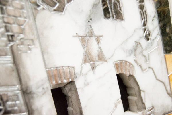 Каменная Картина Оммаж духовному дому отца Шагала № 06, изображение, фото 12