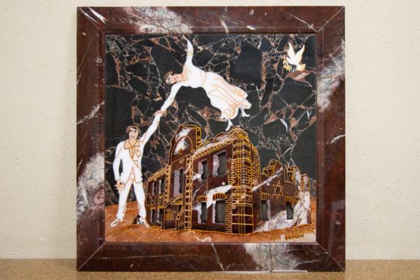 Каменная Картина Оммаж духовному дому отца Шагала № 07, изображение, фото 1