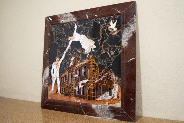 Каменная Картина Оммаж духовному дому отца Шагала № 07, изображение, фото 2
