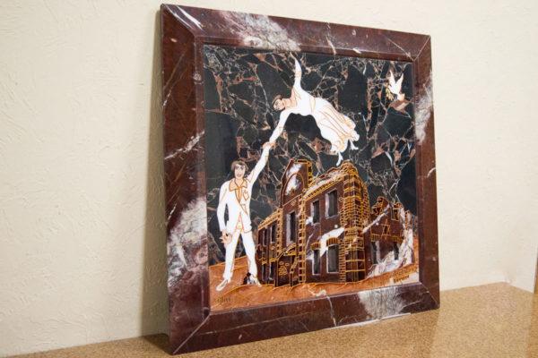 Каменная Картина Оммаж духовному дому отца Шагала № 07, изображение, фото 3