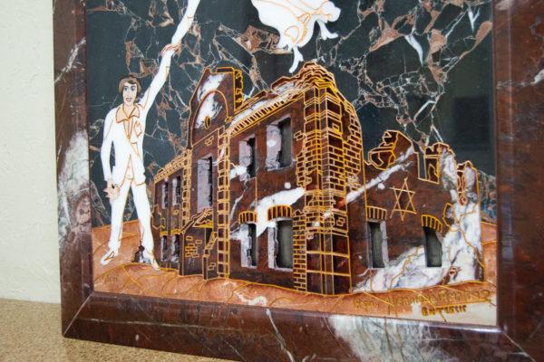 Каменная Картина Оммаж духовному дому отца Шагала № 07, изображение, фото 4