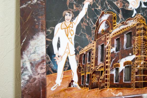 Каменная Картина Оммаж духовному дому отца Шагала № 07, изображение, фото 5