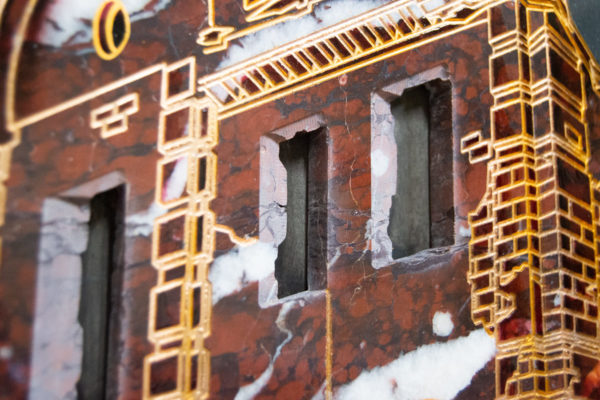 Каменная Картина Оммаж духовному дому отца Шагала № 07, изображение, фото 7