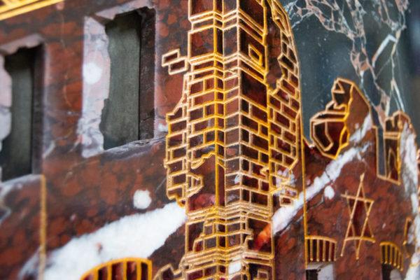 Каменная Картина Оммаж духовному дому отца Шагала № 07, изображение, фото 8