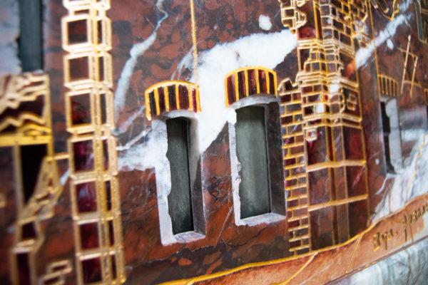 Каменная Картина Оммаж духовному дому отца Шагала № 07, изображение, фото 12