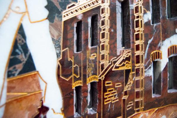 Каменная Картина Оммаж духовному дому отца Шагала № 07, изображение, фото 13