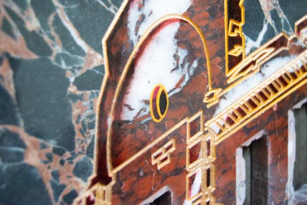 Каменная Картина Оммаж духовному дому отца Шагала № 07, изображение, фото 14