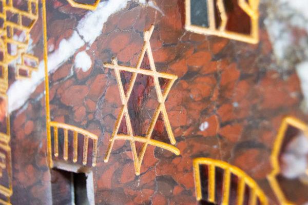 Каменная Картина Оммаж духовному дому отца Шагала № 07, изображение, фото 17