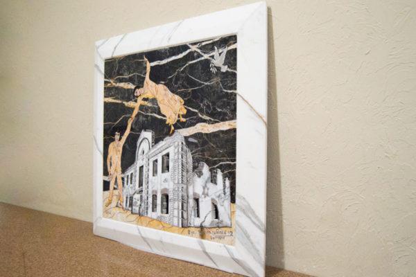 Каменная Картина Оммаж духовному дому отца Шагала № 06, изображение, фото 18