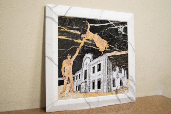 Каменная Картина Оммаж духовному дому отца Шагала № 06, изображение, фото 19