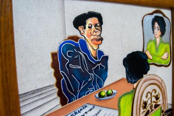 Каменная Картина Ева и ее автор № 04 (Сутин), изображение, фото 10