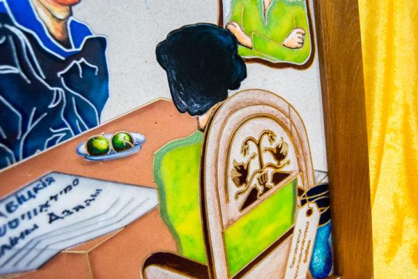 Каменная Картина Ева и ее автор № 04 (Сутин), изображение, фото 11