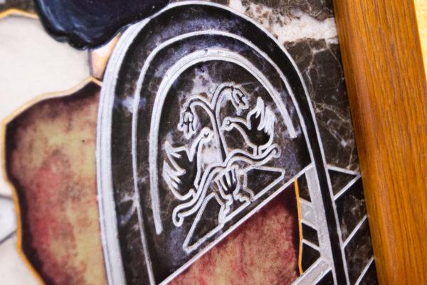 Каменная Картина Ева и ее автор № 05 (Сутин), изображение, фото 8