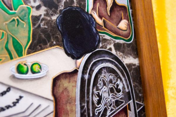 Каменная Картина Ева и ее автор № 05 (Сутин), изображение, фото 9