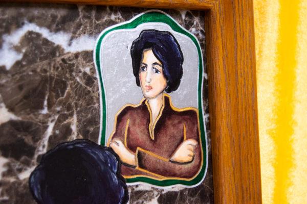 Каменная Картина Ева и ее автор № 05 (Сутин), изображение, фото 10