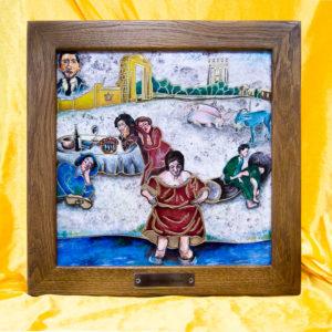 Каменная Картина Завтрак на Волме № 01 (Сутин), изображение, фото 1
