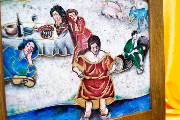 Каменная Картина Завтрак на Волме № 01 (Сутин), изображение, фото 5