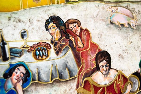 Каменная Картина Завтрак на Волме № 01 (Сутин), изображение, фото 11