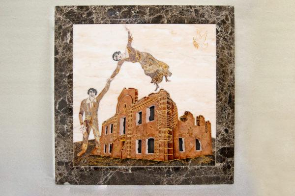 Каменная Картина Оммаж духовному дому отца Шагала № 08, изображение, фото 1