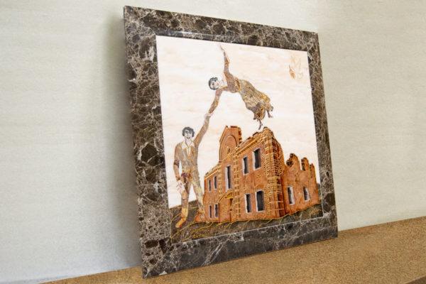 Каменная Картина Оммаж духовному дому отца Шагала № 08, изображение, фото 2