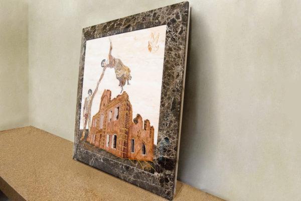 Каменная Картина Оммаж духовному дому отца Шагала № 08, изображение, фото 3