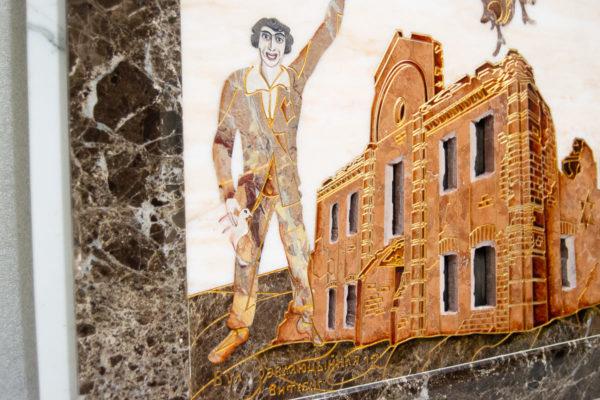 Каменная Картина Оммаж духовному дому отца Шагала № 08, изображение, фото 5