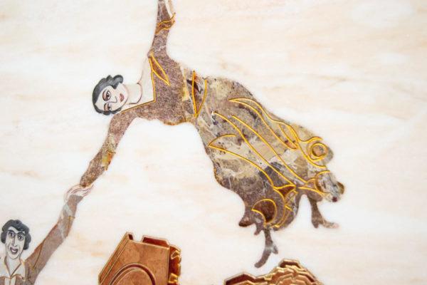 Каменная Картина Оммаж духовному дому отца Шагала № 08, изображение, фото 6