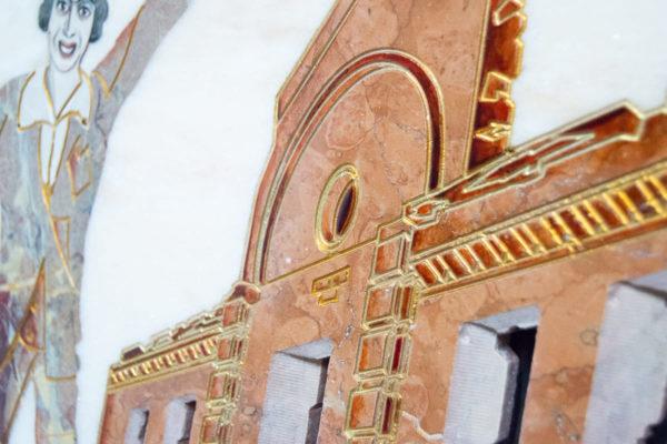 Каменная Картина Оммаж духовному дому отца Шагала № 08, изображение, фото 11