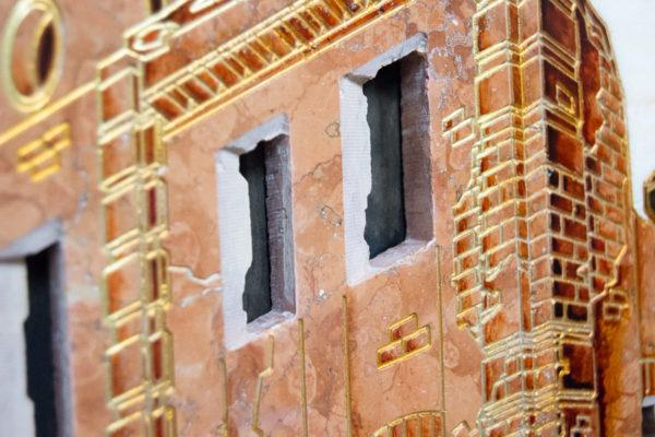 Каменная Картина Оммаж духовному дому отца Шагала № 08, изображение, фото 12