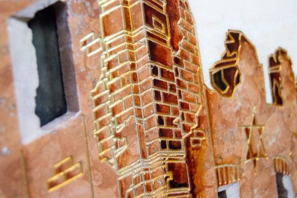 Каменная Картина Оммаж духовному дому отца Шагала № 08, изображение, фото 13
