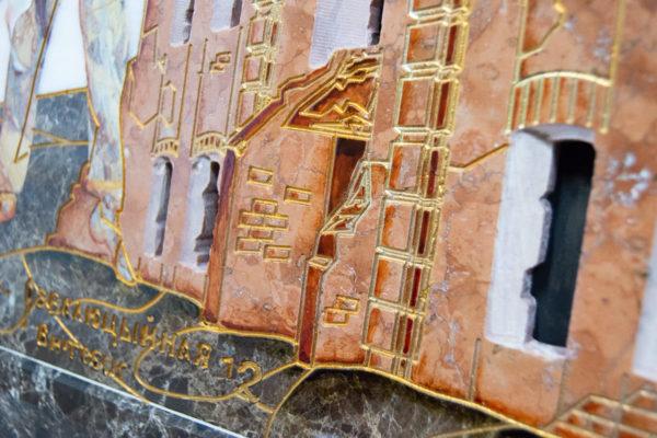 Каменная Картина Оммаж духовному дому отца Шагала № 08, изображение, фото 14
