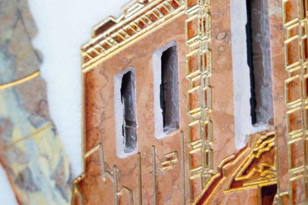 Каменная Картина Оммаж духовному дому отца Шагала № 08, изображение, фото 15
