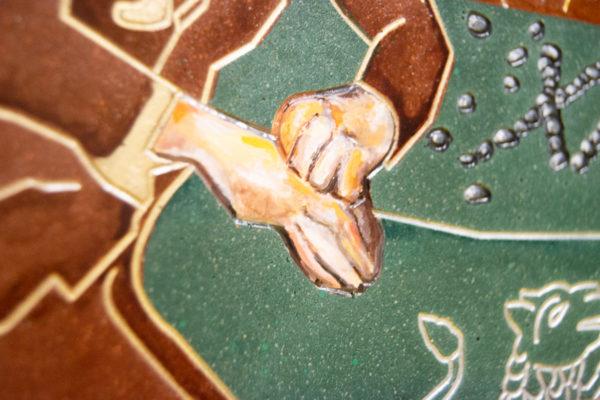 Каменная Картина Поминовение № 01 (Сутин), изображение, фото 8
