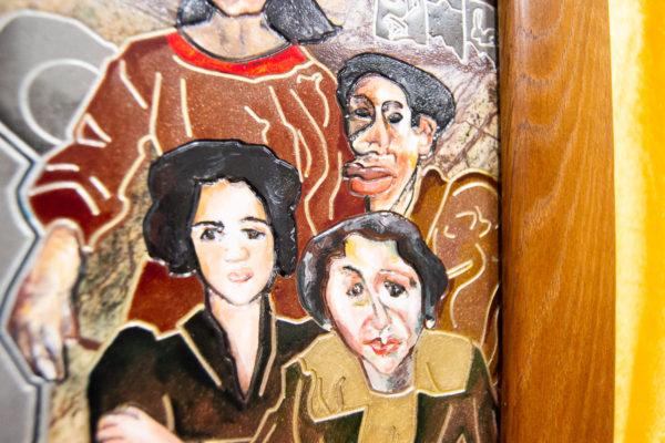 Каменная Картина Поминовение № 01 (Сутин), изображение, фото 9