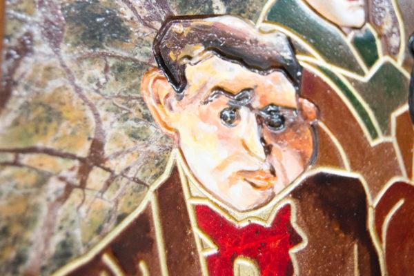 Каменная Картина Поминовение № 01 (Сутин), изображение, фото 15
