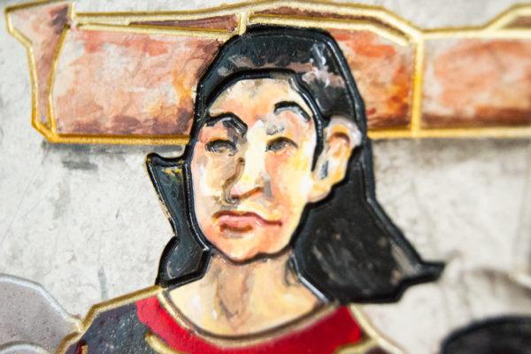 Каменная Картина Поминовение № 02 (Сутин), изображение, фото 12
