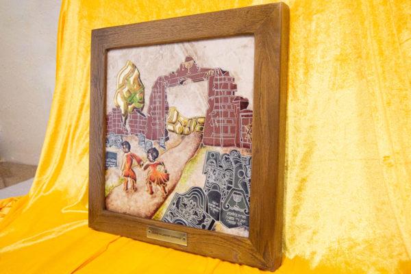 Каменная Картина Дети на дороге печали № 01 (Сутин), изображение, фото 2