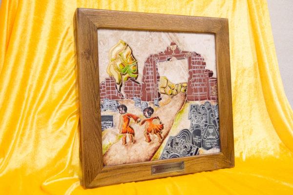 Каменная Картина Дети на дороге печали № 01 (Сутин), изображение, фото 3