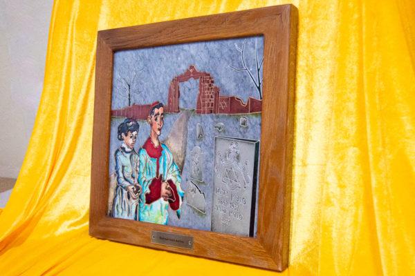 Каменная Картина Певчие у Могилы № 01 (Сутин), изображение, фото 2